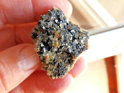 "Minerales "" Fantasticos Cristales Octaedricos De Magnetita De Marruecos-5C16 "" 2"