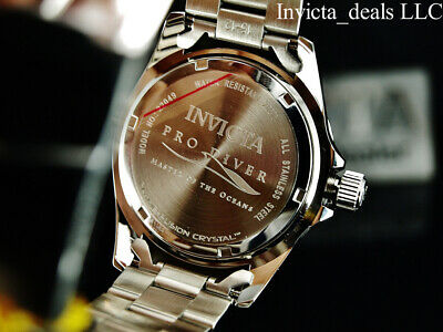 Invicta Men's 43mm Pro Diver SUBMARINER Brown Dial Silver Tone 200m SS Watch 5