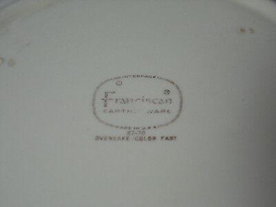 VINTAGE 1941 FRANCISCAN Desert Rose Pattern Usa Backstamp 9 5/8 ...