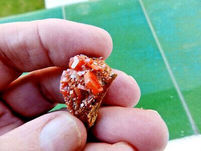"""Minerales"""" Fantasticos Cristales Biterminados De Vanadinita Marruecos-1B19 """" 3"""