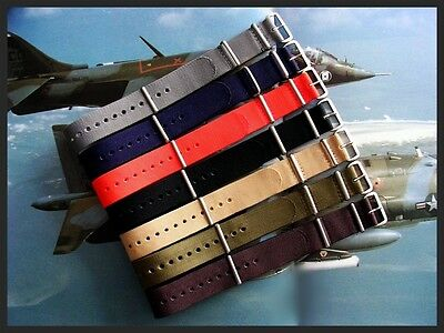 NATO watch strap band G10 nylon Military Diver utc RAF stitched bonded IW SUISSE 4