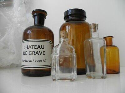 Vorratsglas Flaschen Apotheker braun & farblos 2