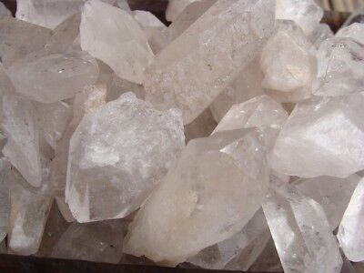500 Carat Lots of Unsearched Quartz Crystal Points + a FREE faceted gemstone 2