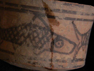 Ancient Large Size Teracotta Painted Pot With Fishes Indus Valley 2500 BC #CCH3 7