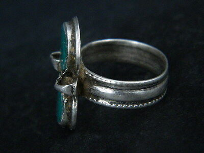 Antique Silver Ring With Stones 1900 AD  #STC176 5 • CAD $31.76