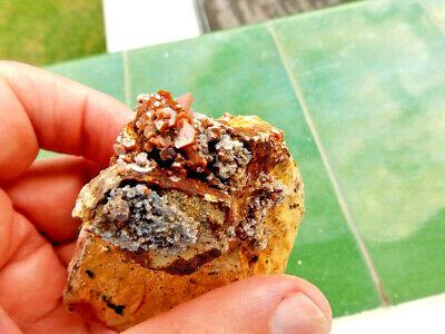 """Minerales"""" Fantasticos Cristales Biterminados De Vanadinita Marruecos-10B18 """" 2"""