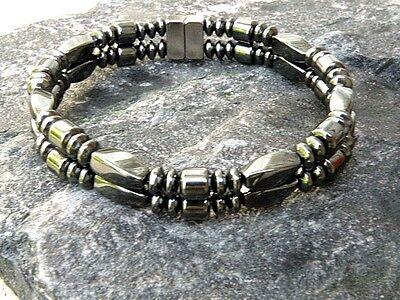 Men/'s Womens Magnetic Hematite RUSSIAN SERPENTINE JADE Bracelet Anklet 1-2-3 row