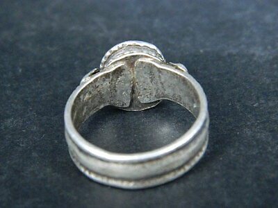 Antique Silver Ring With Stone Post Medieval 1800 AD    #STC478 5