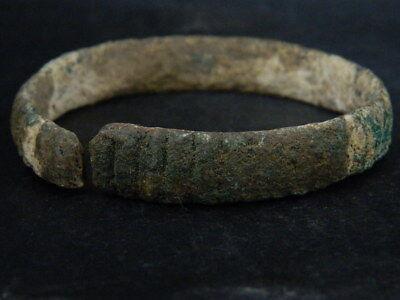 Ancient Bronze Bracelet Roman 200 BC No Reserve #BR7465 2