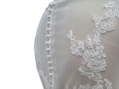 10 Knöpfe Perlenknöpfe Perlmutt Brautkleid Hochzeit usw verschiedene Größen 3