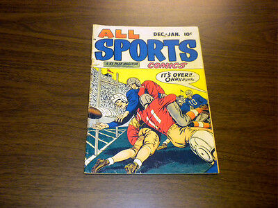 ALL SPORTS COMICS #2 Hillman 1948-1949 with FOOTBALL cover
