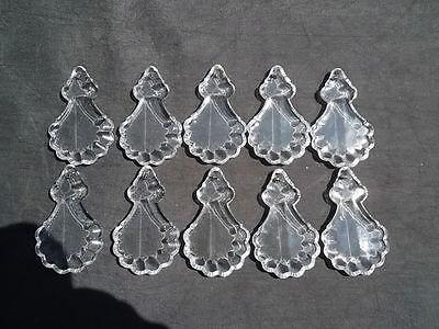 10 glass half cut angel pendaloques chandelier drops (D9131) 2