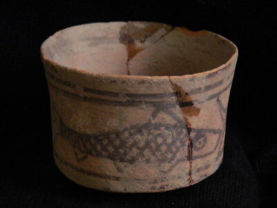 Ancient Large Size Teracotta Painted Pot With Fishes Indus Valley 2500 BC #CCH3 4