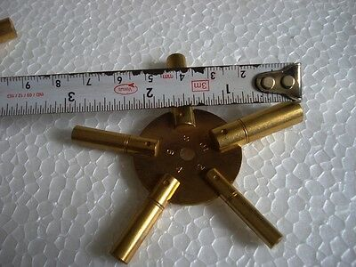 MASTER Key for all ANTIQUE CLOCK - BRASS -Total 10 type of Key HOLE in Two piece 5 • EUR 13,85