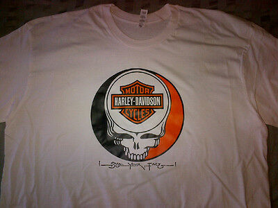 Harley Davidson STEAL YOUR FACE Grateful Dead T-SHIRT Weir FURTHUR Jerry Garcia 2