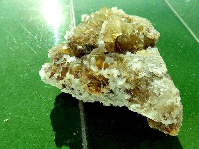 """Minerales """" Preciosos Cristales Fluorescentes De Fluorita Mina Moscona -10A17 """" 9"""