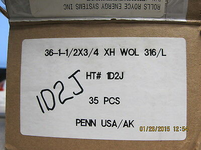 """1 ½"""" PIPE Weldolet S80 ASTM A182 F316L 3000# Long 1 50 OD x  090 High"""