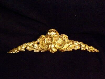 Superb Antique French Large Bronze Pediment Scroll 19 Th.c Napoleon III Louis XV 2