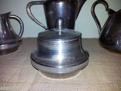 Juego de Cafe - The, Alpaca Plateado Contraste siglo XX Decoracion Usado Vintage 2