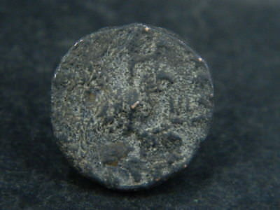 Ancient Bronze Coin Bactrian 100 BC #BR6626 2