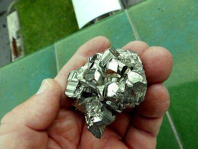 "Minerales ""  Excepcional Pirita Maclada Mina San Genaro (El Peru)  -  11C16 "" 5"