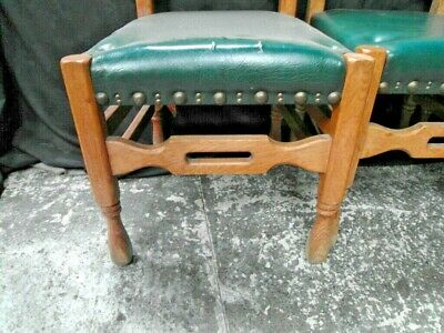 Three  Arts And Crafts  Oak Dining Chairs c.1900 7