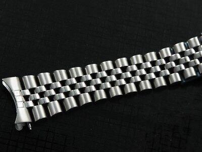 Bracciale jubilee 20mm acciaio pieno chiusura a scomparsa cinturino 3