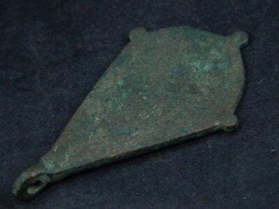 Ancient Bronze Pendant Islamic 1200 AD #BR7454 4
