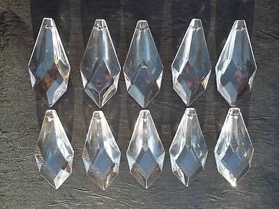 10 pretty small  glass spear chandelier drops (D686) 5