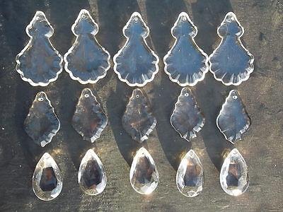 A mixture of 15 pretty glass   chandelier drops(D8492) 2