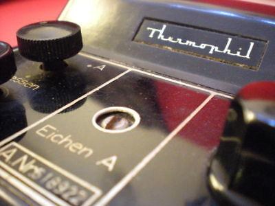 Ultrakust Thermometer Type 4410 Thermophil Antiguo termometro vintage baquelita