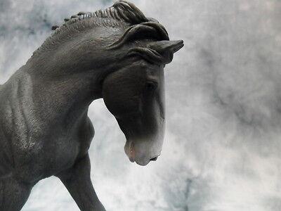Collecta 88620 Clydesdale Stallone BLACK Roan Sabino 19 cm Mondo Cavalli