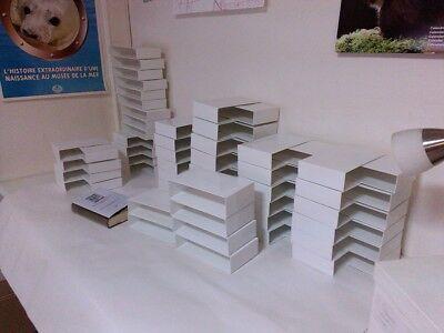Pléiade : Lot 5 Boîtier blanc brillant pour album ou autre +5 rhodoïd offert 9