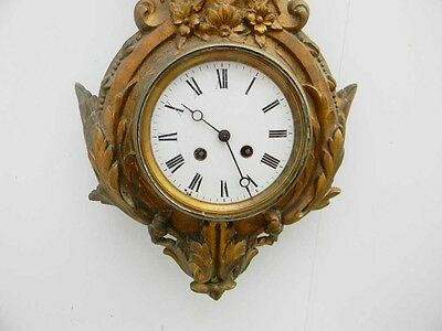 Cartel wall clock French early 19th century 4