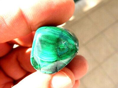 """Minerales """"  Extraordinario Mineral De Malaquita Rodada Del Congo  -  6C16 """". 5"""