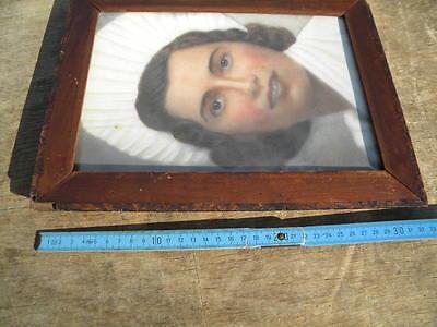 1810-30 furnierter 33,3x25,5cm BIEDERMEIER RAHMEN Furnierstärke 3mm BILDERRAHMEN 7