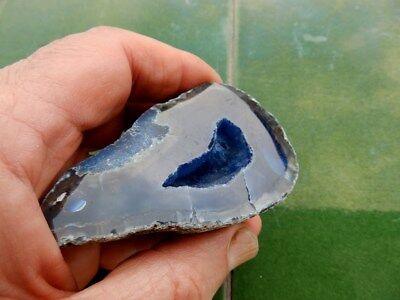 """Minerales"""" Fantastica Geoda De Agata Con Bonitas Betas Y Cristales Brasil- 7B18"""" 3"""