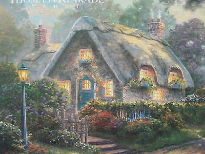 "8 1//4/"" x 5 1//2/"" Thomas Kinkade Dealer Postcard Lovelight Cottage Street Light"
