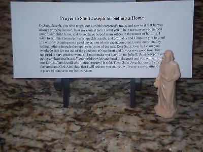 NEW St Joseph Statue Home Seller Selling Kit Saint House Figure & Instruction 2