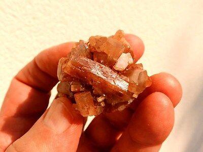 """Minerales """" Fabulosos Cristales De Aragonito Maclado De Marruecos  -  9C16 """". 4"""