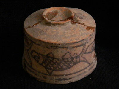 Ancient Large Size Teracotta Painted Pot With Fishes Indus Valley 2500 BC #CCH3 11