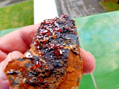 "Minerales"" Fantasticos Cristales Biterminados De Vanadinita Marruecos-10D18 "" 3"