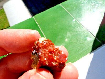 """Minerales"""" Fantasticos Cristales Biterminados De Vanadinita Marruecos-10N18 """" 2"""