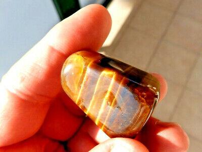 """Minerales"""" Bonito Mineral De Quarzo Ojo De Tigre Rodado De Sudafrica- 6B16 """" 2"""