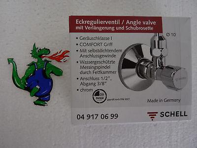"10 Eckventil Schell COMFORT 1/2"" DN15 chrom Hochwertig Eckregulierventil Sanitär 2"