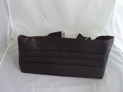 "<Deal> Quality Mens 100% Silk BLACK Cummerbund> up to 48"" Waist>P&P2UK>1st Class 6"