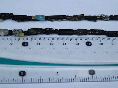 Ancient Mosaic Glass Fragment Beads Strand Roman 200 BC #BE5106 8
