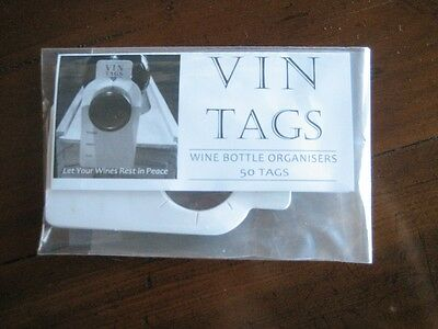 Wine Storage Tags - Vin Tags - 20 packs of 50 wine tags 8