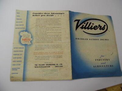 c.1949 VILLIERS Air-Cooled Engine Catalog Brochure Mark 10 20 25 British Vintage 4