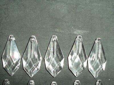 10 pretty large glass spear chandelier drops (D8686) 5